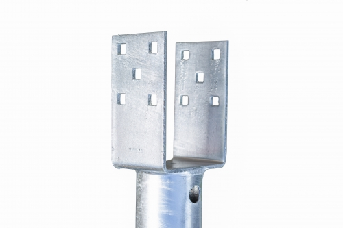 Product for Heavy loads - GS Pillar U ⌀ 114 - 1435 mm gallery, examples of use — Groundscrews.shop - order screw piles online