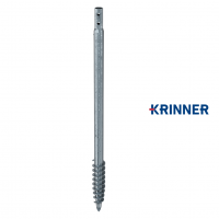 Main image of — KRINNER ⌀ 89 - 5 mm - KSF V 89x5x2000 PT — get screw pile online on Groundsrews.shop