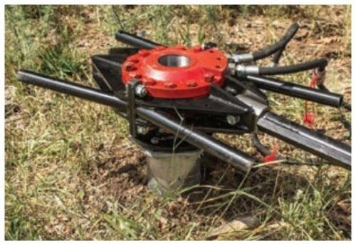 Main image of - Montāžas<br>tehniskais aprīkojums — Hidrauliskais rotors - groundscrews.shop - get ground screws online with delivery.