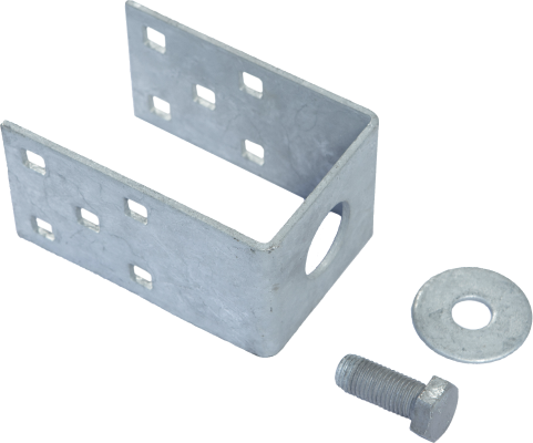 U adapter — created to adopt G profile to U profile needs. Product developed for changing construction from M profile to U profile, without dismantling groundscrew.